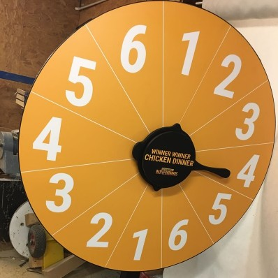 Chicken Dinner Prize Wheel