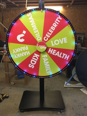 Loose Women TV Prize Wheel